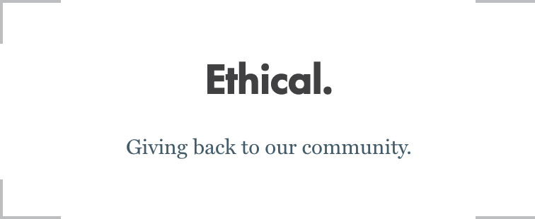 Tagline-Ethical